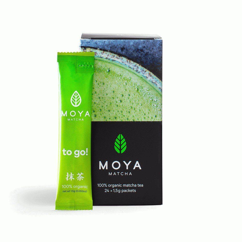 MOYA MATCHA ORGANIC JAPANESE GREEN TEA TRADITIONAL TO GO