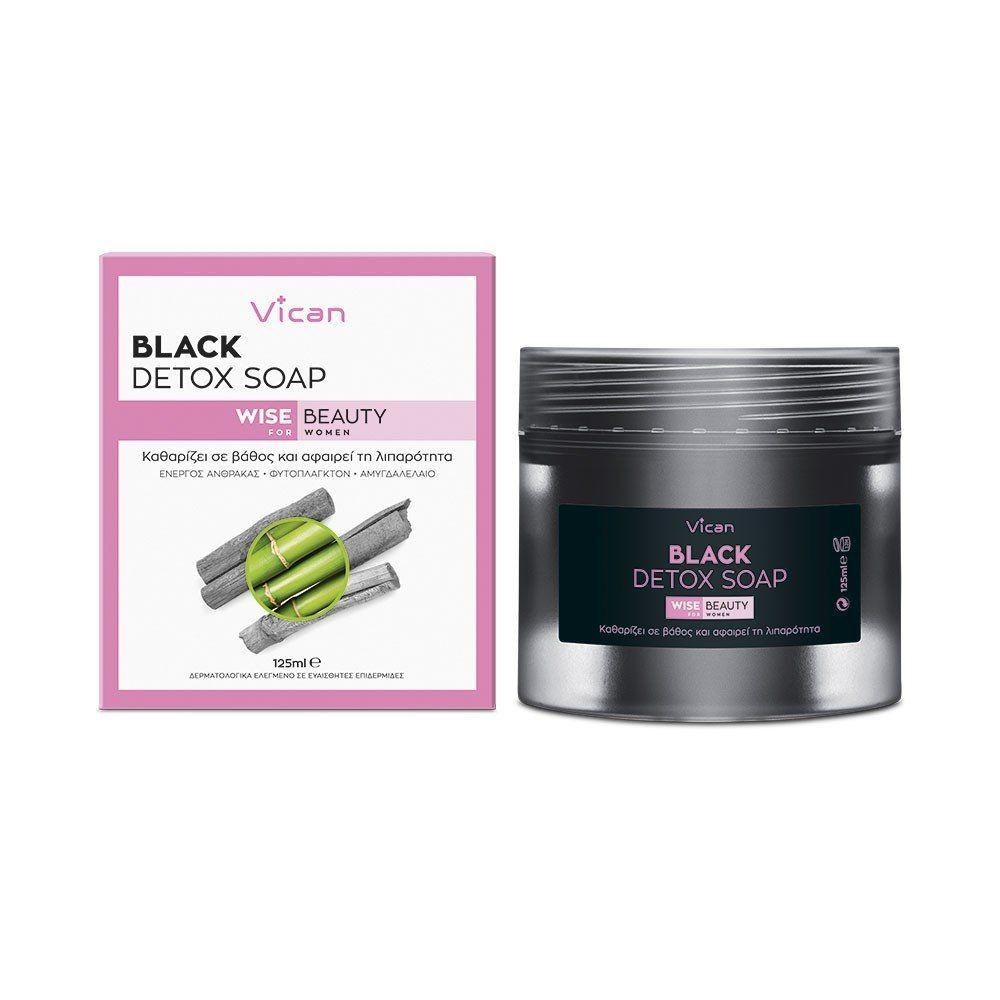 VICAN WISE BEAUTY - BLACK DETOX SOAP 125ml