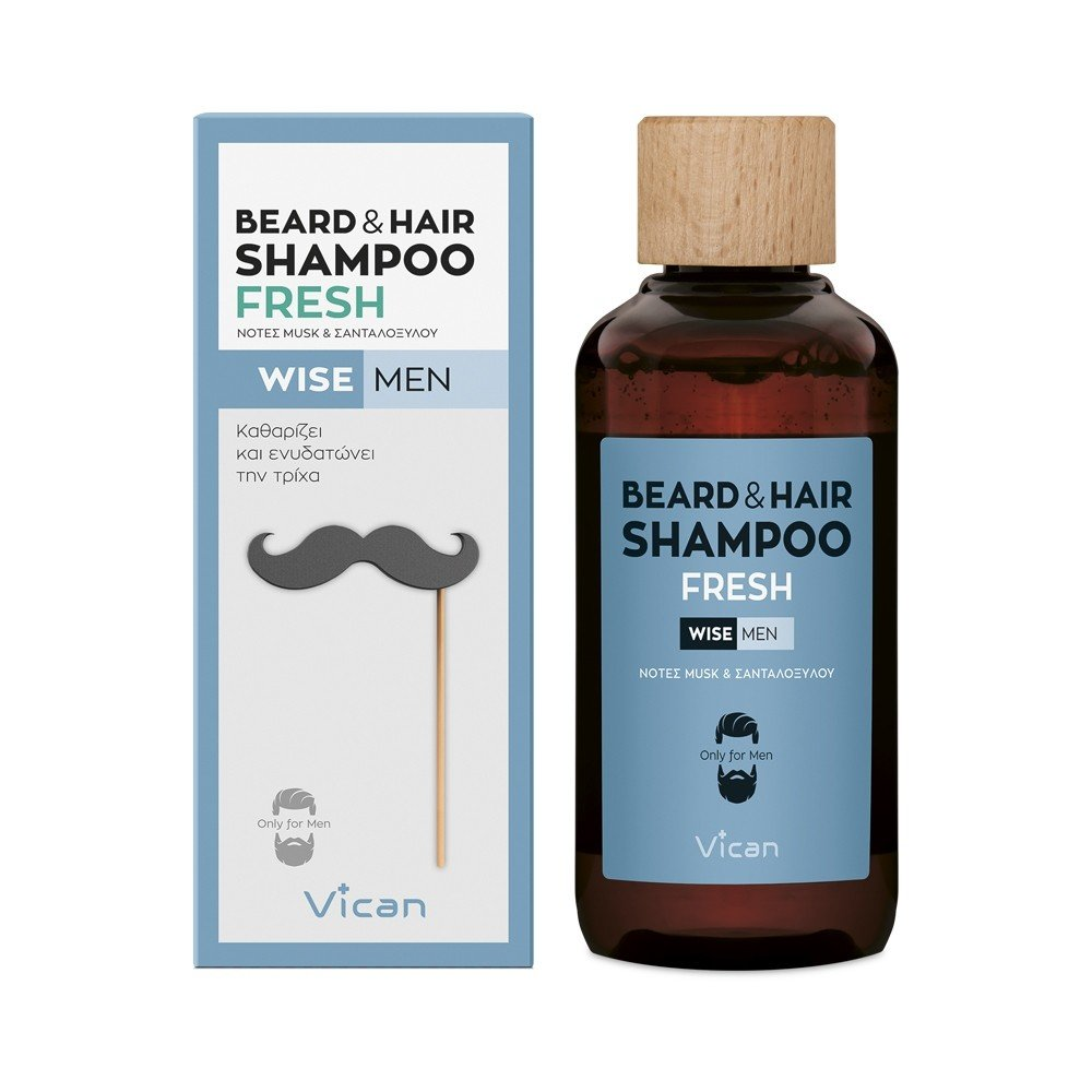VICAN WISE MEN - BEARD & HAIR SHAMPOO FRESH