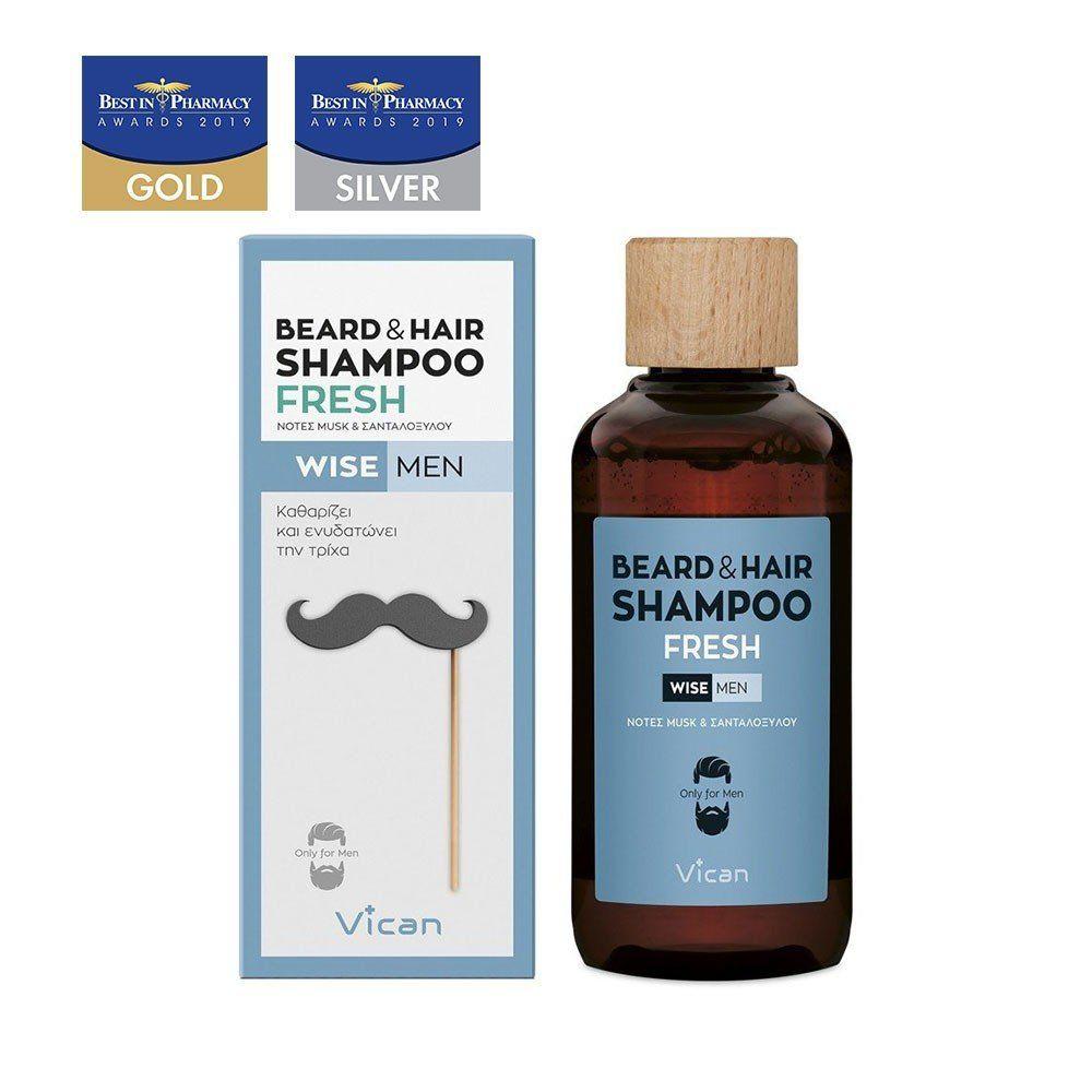 VICAN WISE MEN - BEARD & HAIR SHAMPOO FRESH
