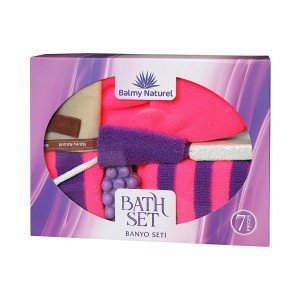 BALMY NATUREL BATH SET WITH LAVENDER MASSAGE SOAP