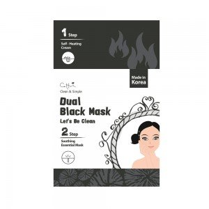 CETTUA CLEAN & SIMPLE LET'S BE CLEAN WITH DUAL BLACK MASK