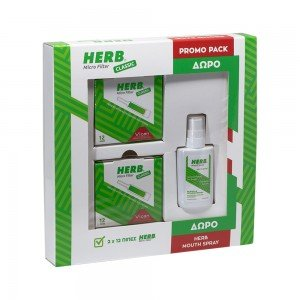 P/P HERB MICRO FILTER CLASSIC (2τμχ) + HERB MOUTH SPRAY (15ml)