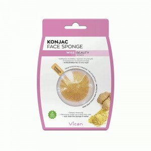 VICAN WISE BEAUTY - KONJAC FACE SPONGE GINGER POWDER
