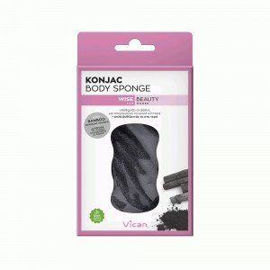 VICAN WISE BEAUTY - KONJAC BODY SPONGE BAMBOO CHARCOAL POWDER